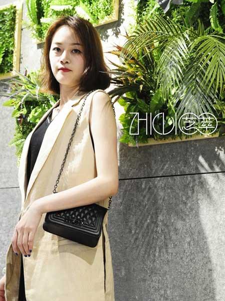 芝萃女装品牌2019春夏新款韩版时尚修身显瘦中长款马甲外套