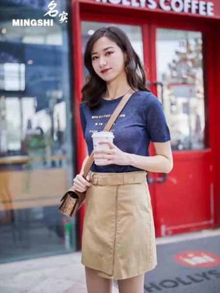 名实女装品牌2019春夏新款时尚宽松百搭圆领短袖T恤