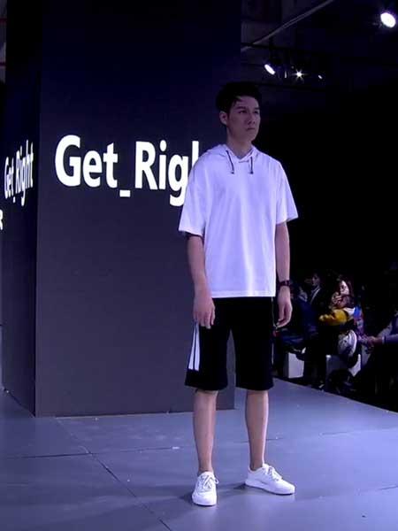 坦缔斯男装品牌2019春夏新款韩版潮流宽松时尚连帽图案印花短袖T恤