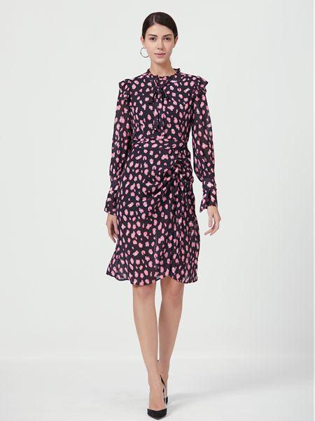 Ms.Leyna女装品牌2019春夏新款五分袖连衣裙