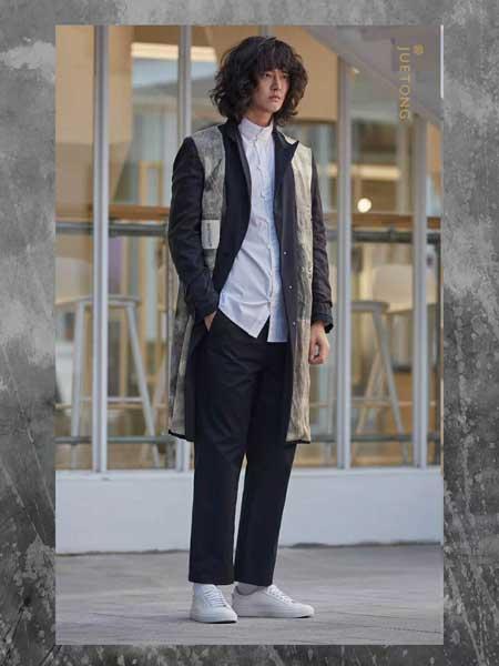 觉同JUETONG男装品牌新款时尚休闲宽松百搭中长款外套