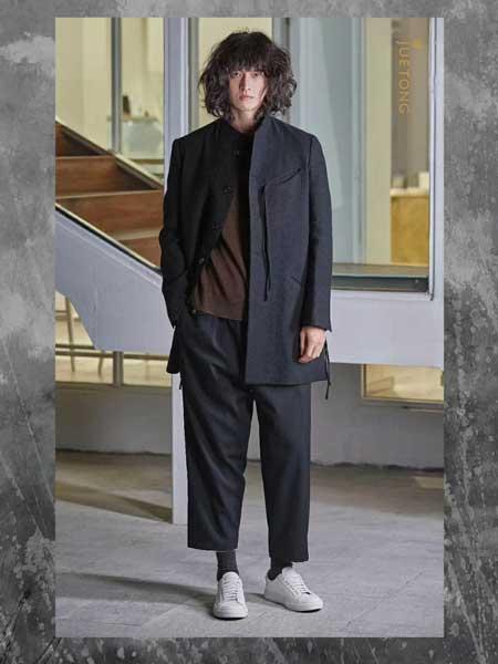 觉同JUETONG男装品牌新款商务休闲 韩版大衣西装领外套