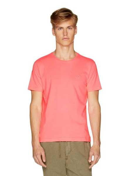 Benetton贝纳通休闲品牌2019春夏新款圆领棉质纯色舒适透气短袖T恤