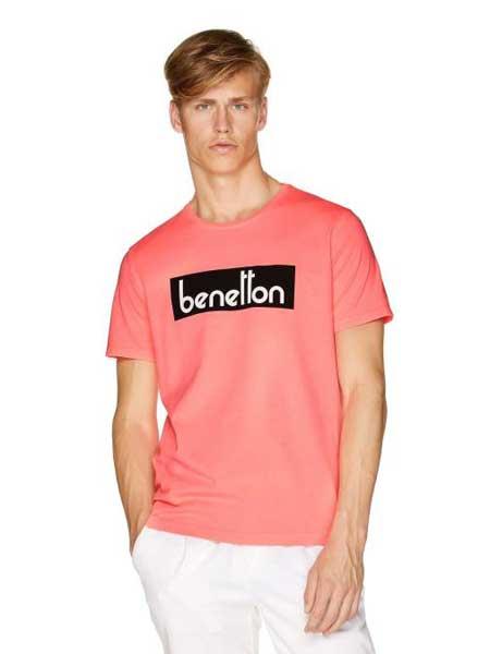 Benetton贝纳通休闲品牌2019春夏新款时尚休闲宽松百搭圆领短袖T恤