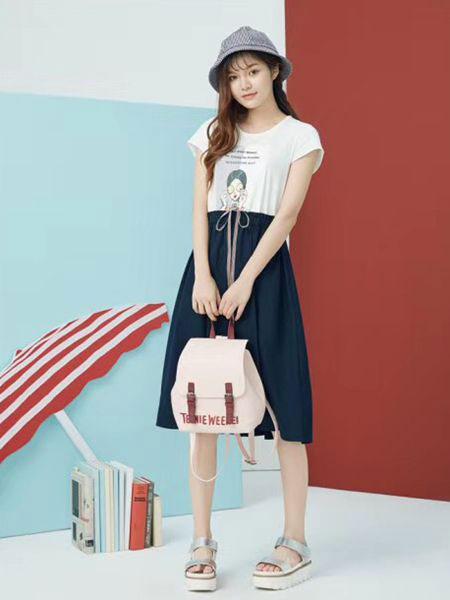 衣魅人女装品牌2019春夏新款韩版小清新显瘦中长款裙