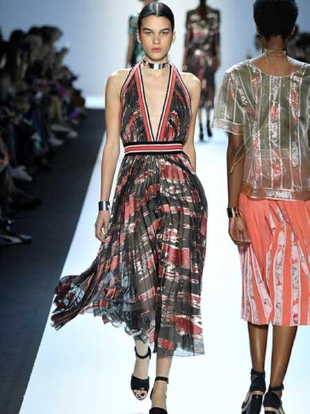 Leonard Paris女装品牌新款时尚修身显瘦连衣裙