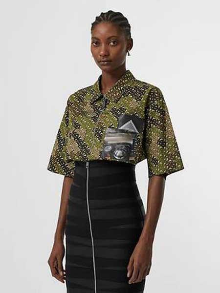 Burberry博柏利休闲品牌2019春夏新款新款黑色弹力修身半裙