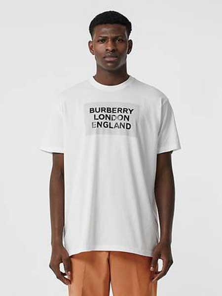 Burberry博柏利休闲品牌2019春夏新款时尚休闲宽松百搭圆领短袖T恤