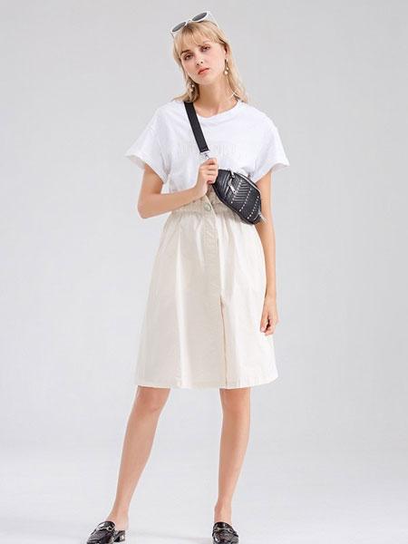 Bally巴利女装品牌2019春夏新款 假两件式拼接连衣裙