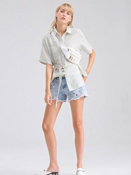 Bally巴利女装品牌2019春夏新品收腰中长款衬衫外套上衣