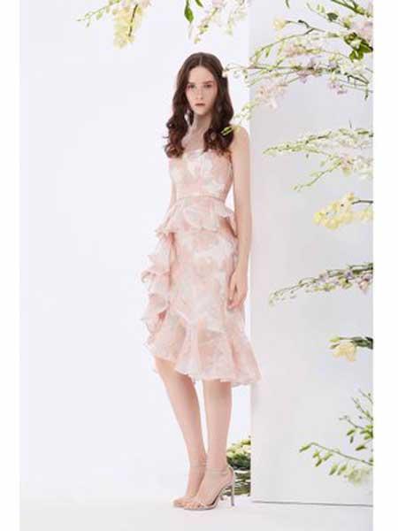 Misi,Camii女装品牌2019春夏新款无袖中长款时尚气质连衣裙