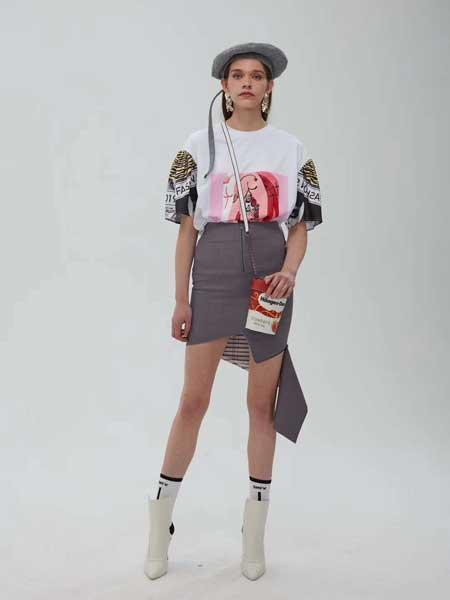 DUA LIPA女装品牌2019春夏新款韩版气质高腰性感修身不规则包臀半身短裙