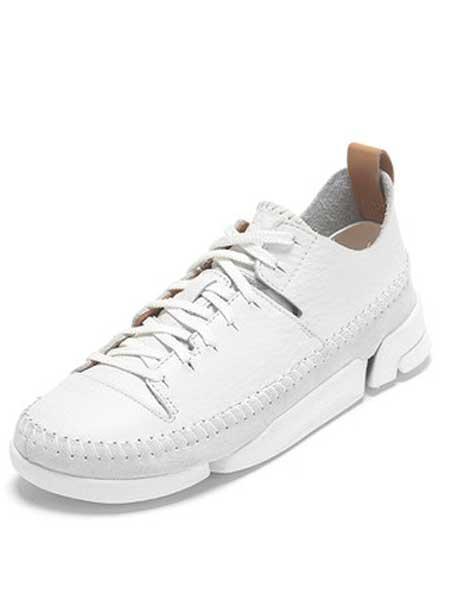 Clarks鞋帽/领带品牌2019春夏新款三瓣鞋单鞋女平底小白鞋