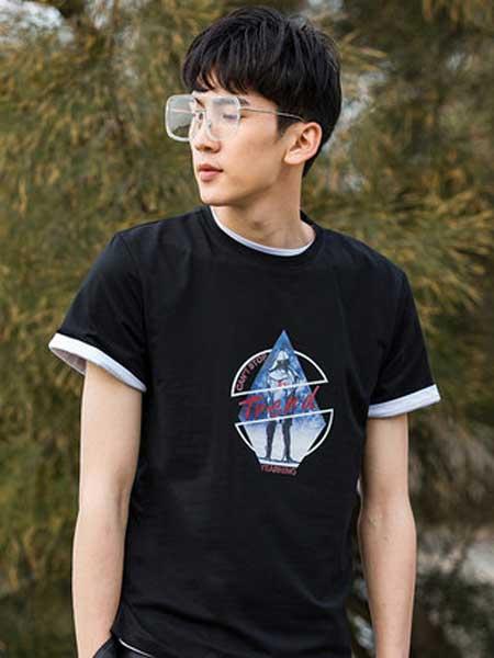 花花公子男装品牌2019春夏新款韩版潮流修身短袖T恤