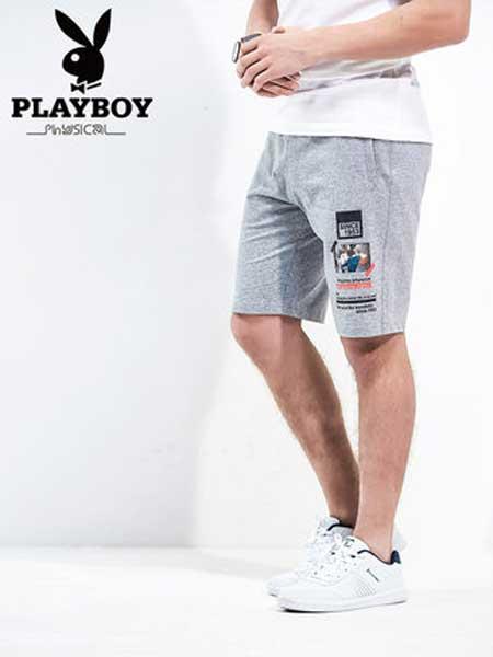 花花公子男装品牌2019春夏新款潮流薄款青年休闲运动修身短裤