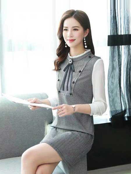 女人的衣柜女装品牌2019春夏新款韩版小个子修身显瘦时尚拼接连衣裙