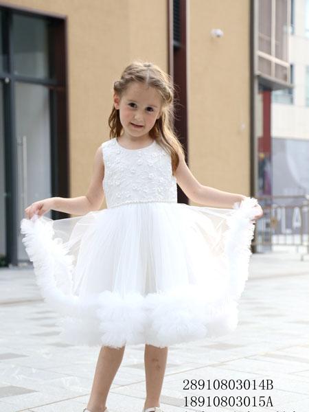 凡兜童装品牌2019春夏女童洋气公主儿童蓬蓬裙