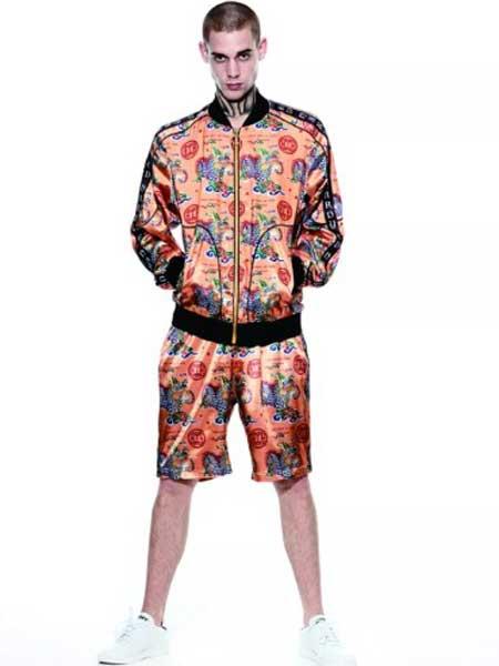 Ed Hardy埃德·哈迪男装品牌2019春夏新款时尚修身百搭显瘦印花拉链棒球服外套
