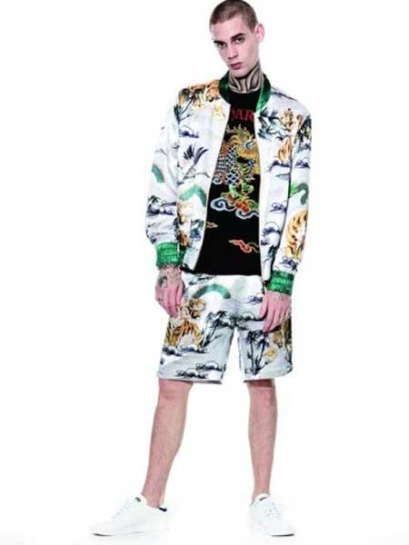 Ed Hardy埃德·哈迪男装品牌2019春夏新款薄款时尚印花修身潮款外套