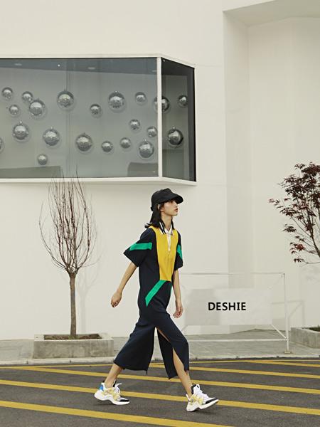 H+3女装品牌2019春夏新款条纹撞色收腰显瘦不规则连体裤套装