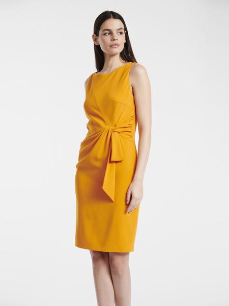 PAULE KA女装品牌2019春夏新款绑带无袖圆领连衣裙