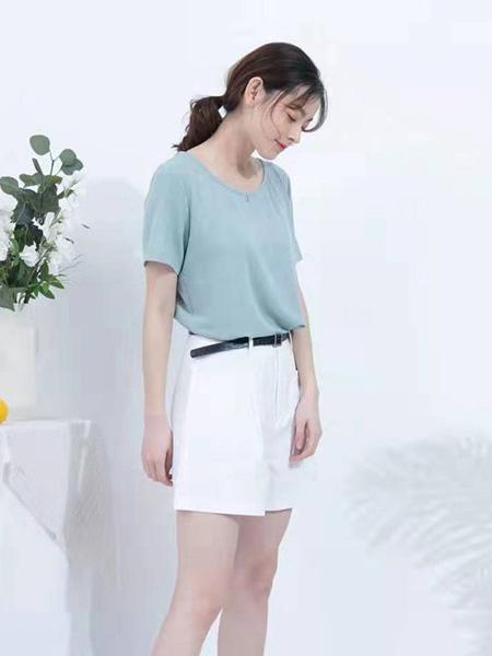 ISSUE亦抒女装品牌2019春夏新款时尚百搭高腰显瘦短裤