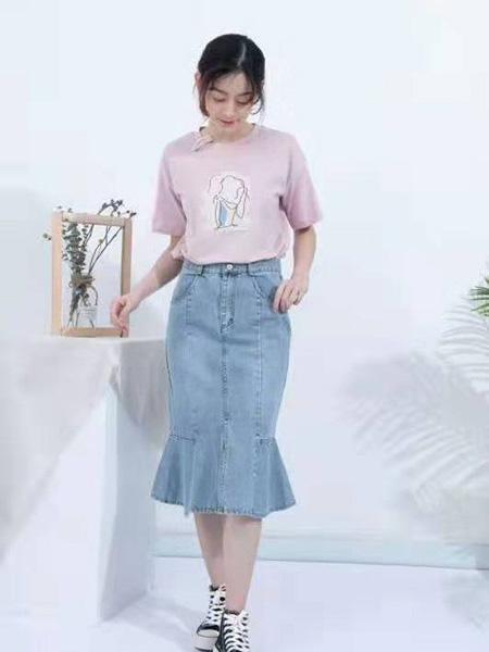 ISSUE亦抒女装品牌2019春夏新款牛仔半身裙子高腰显瘦百搭包臀鱼尾裙