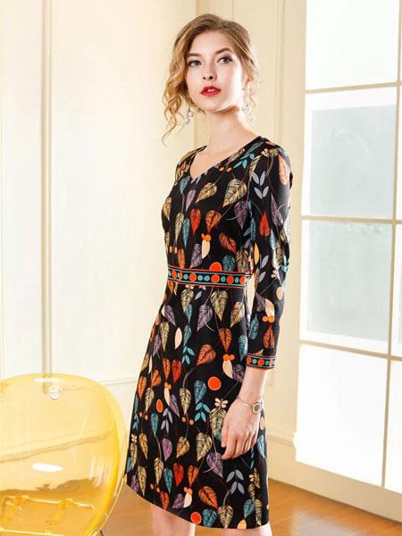 新款时尚女装 粉领贵族妈妈装 大码连衣裙走份批发