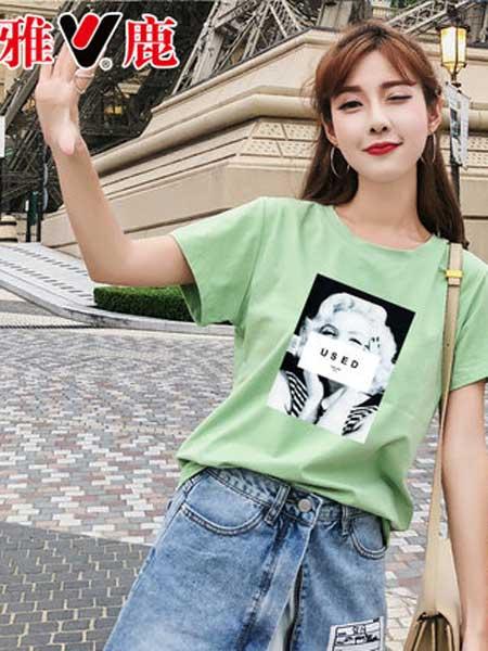 雅鹿女装品牌2019春夏新款潮上衣半袖韩版超火学生宽松短袖t恤