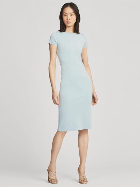 Polo Ralph Lauren休闲品牌2019春夏新款短袖性感修身夜店纯色连衣裙