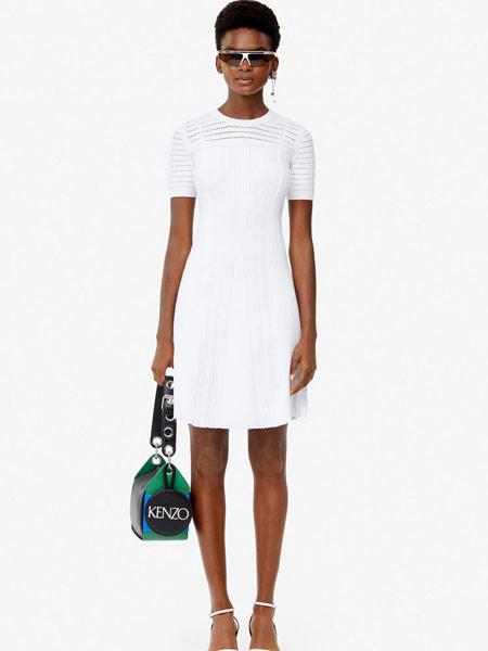 高田贤三 (KENZO)女装品牌2019春夏新款修身显瘦短袖连衣裙