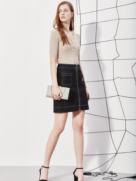 丽芮女装品牌2019春夏时尚洋气韩版V领气质针织衫