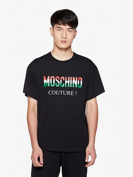 莫斯奇诺休闲品牌2019春夏新款时尚宽松休闲圆领印花短袖T恤
