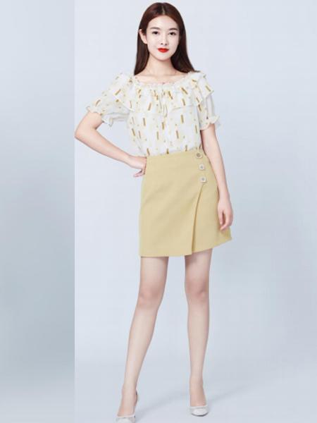 妍可唯女装品牌2019春夏新款时尚矮个子搭配娇小连衣裙两件套小个子裙子套装