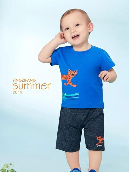 婴姿坊童装品牌2019春夏儿童体恤短袖上衣 短袖T恤