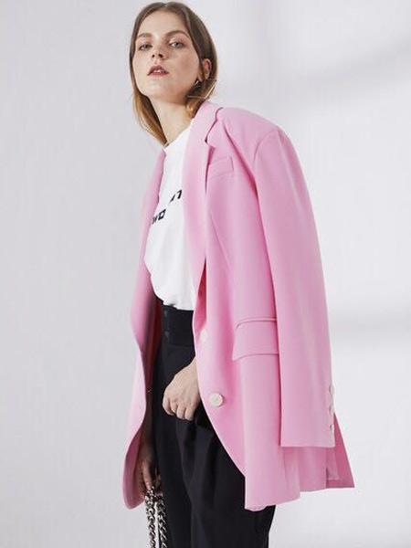 D.TWO女装品牌2019秋季新款气质高冷翻领西装外套侧口袋西服