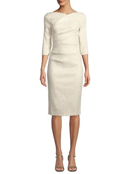 Generra姬奈拉女装品牌2019春夏新款气质时尚修身七分袖包臀连衣裙