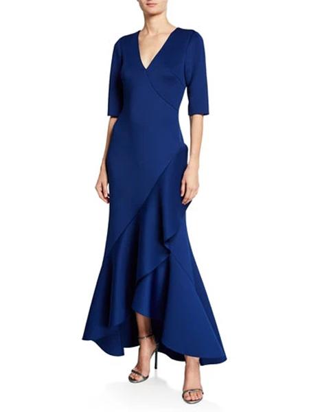 Generra姬奈拉女装品牌2019春夏新款修身包臀不规则包臀连衣裙