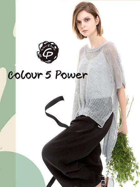 五色能量colour5power女装品牌2019春夏新款韩版宽松遮肚子显瘦棉麻休闲上衣