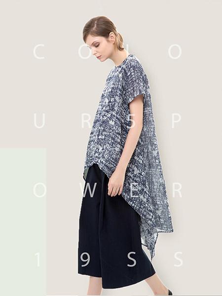 五色能量colour5power女装品牌2019春夏新款复古文艺宽松大码上衣