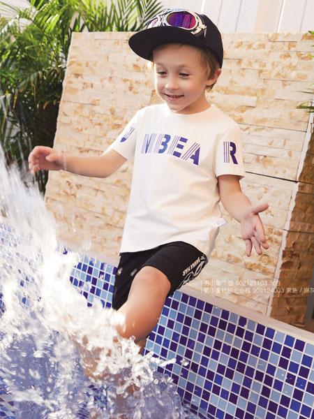 杰米熊童装品牌2019春夏字母印花韩国新款上衣时尚