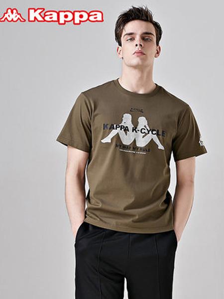 Kappa背靠背�\�友b品牌2019春夏新款�r尚��松休�e�A�I百搭短袖T恤