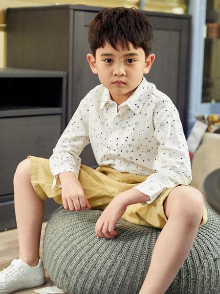 V-rules童装品牌2019春夏男童星星印花长袖衬衫
