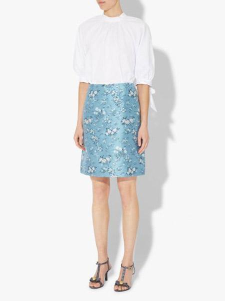 艾尔丹姆Erdem女装品牌2019春夏新款高腰修身显瘦一步裙紧身包臀裙