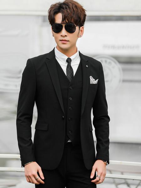 卡邦易男装品牌2019春夏新款纯色修身韩版休闲商务西服套装