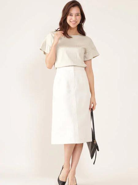 伴渡22OCTOBRE女装品牌2019春夏新款韩版时尚气质高腰显瘦半身裙