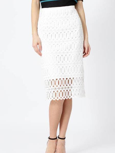 伴渡22OCTOBRE女装品牌2019春夏新款韩版蕾丝拼接性感高腰包臀一步半身裙