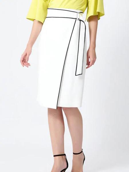 伴渡22OCTOBRE女装品牌2019春夏新款时尚百搭不规则半身裙