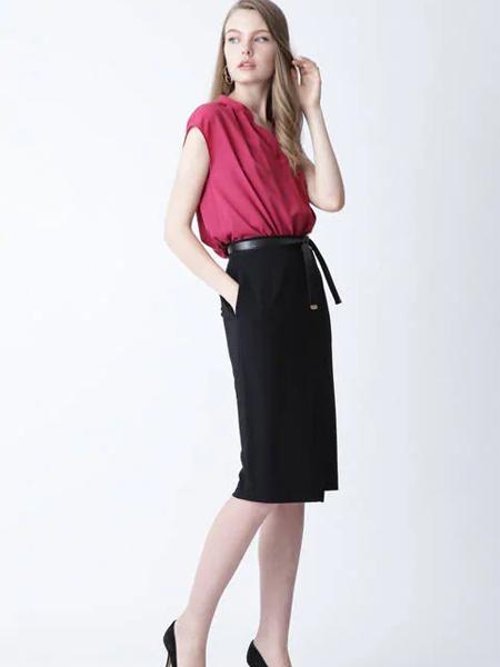 伴渡22OCTOBRE女装品牌2019春夏新款韩版宽松v领无袖百搭气质上衣遮肚子雪纺衫