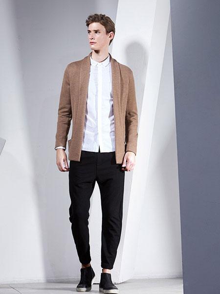 男眼男装品牌2019春季新款韩版薄款长袖针织衫开衫中长款外套潮